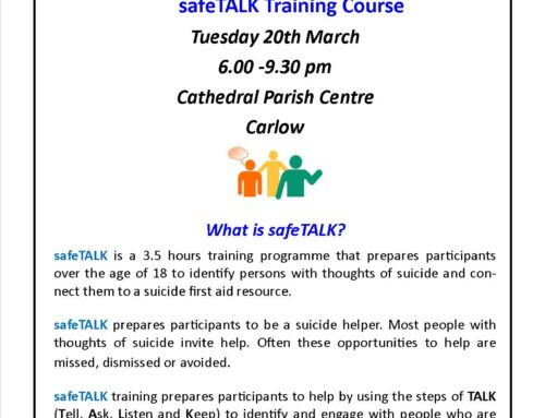 safeTALK Training – Tuesday 20th March